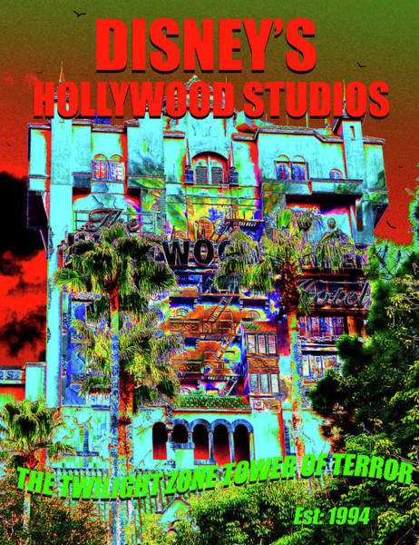 Wall Art - Painting - Tower Of Terror Poster Work A by David Lee Thompson