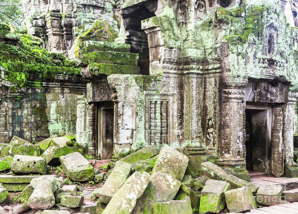 Photograph - Ta Prohm Temple In Angkor, Siem Reap In Cambodia by Didier Marti