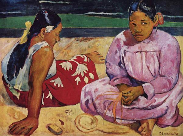 Painting - Tahitian Women On The Beach by Paul Gauguin
