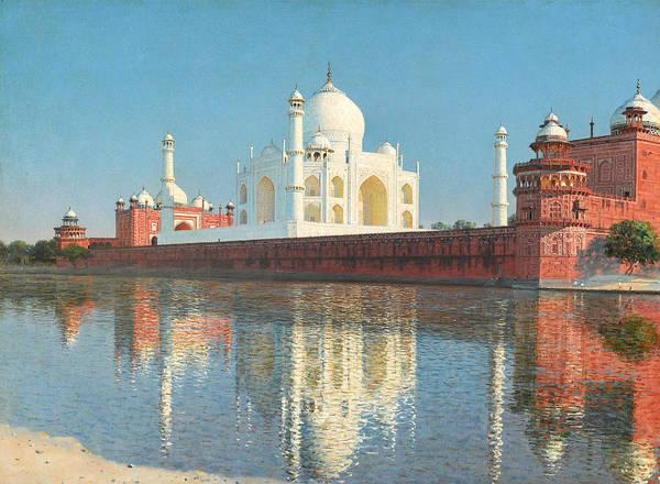 Painting - Taj Mahal Mausoleum, Agra by Vasily Vereshchagin