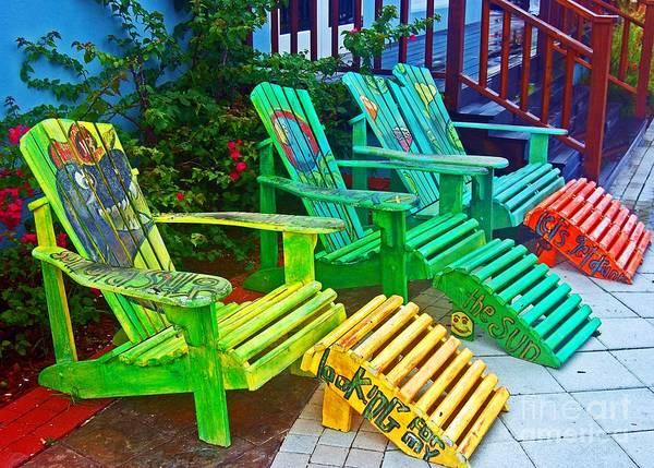 Adirondack Chair Wall Art - Photograph - Take A Break by Debbi Granruth