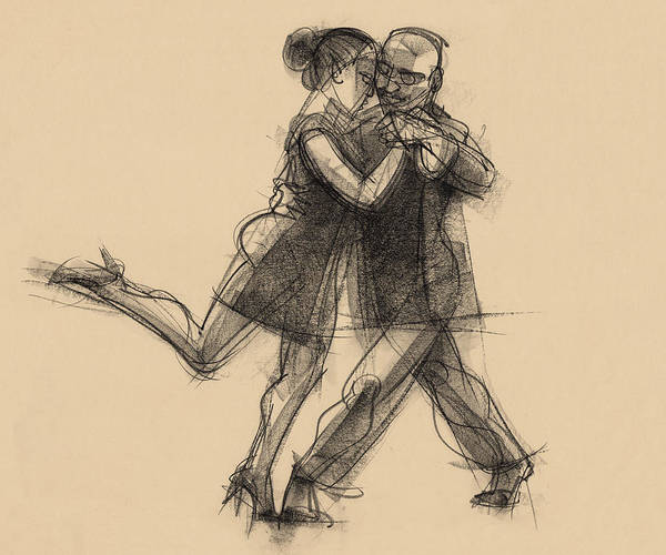 Drawing - Tango #65 by Judith Kunzle