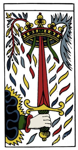 Photograph - Tarot Card Ace Of Swords by Granger