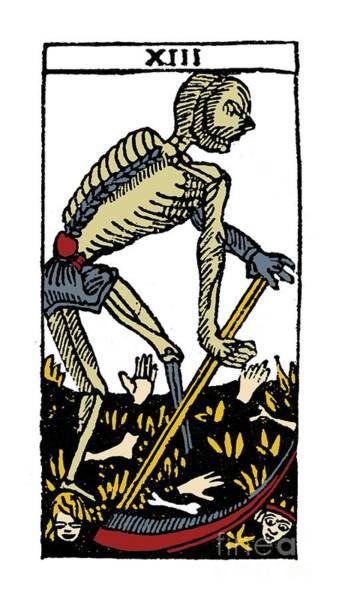 Photograph - Tarot Card Death by Granger