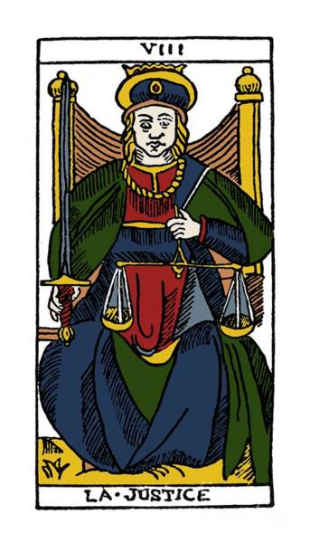 Photograph - Tarot Card Justice by Granger