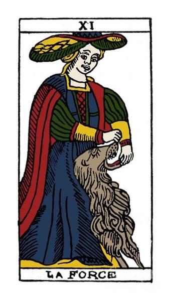 Photograph - Tarot Card Strength by Granger