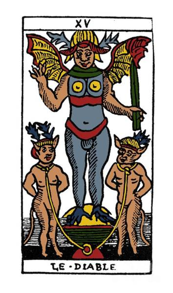 Photograph - Tarot Card The Devil by Granger