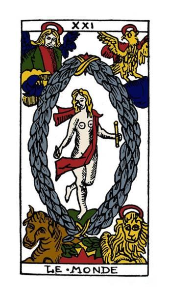 Photograph - Tarot Card The World by Granger