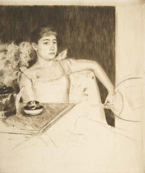 Relief - Tea by Mary Cassatt