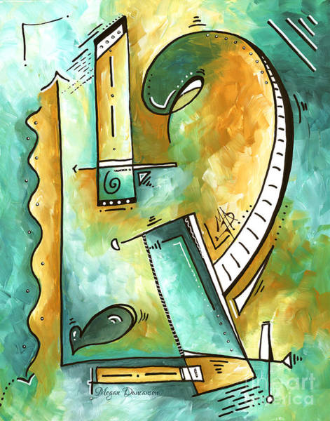 Wall Art - Painting - Teal Dreams Fun Funky Original Pop Art Style Abstract Painting By Megan Duncanson by Megan Duncanson
