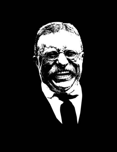 Wall Art - Digital Art - Teddy Roosevelt  by War Is Hell Store