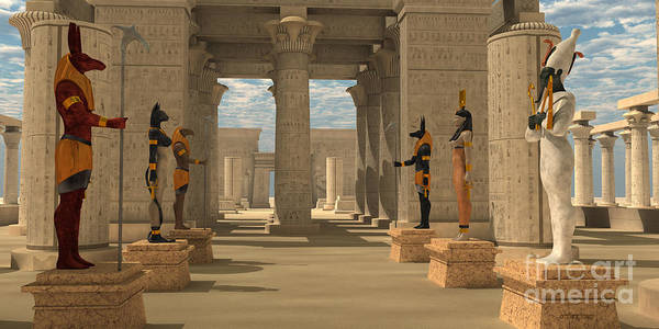 Wall Art - Painting - Temple Of Ancient Pharaohs by Corey Ford