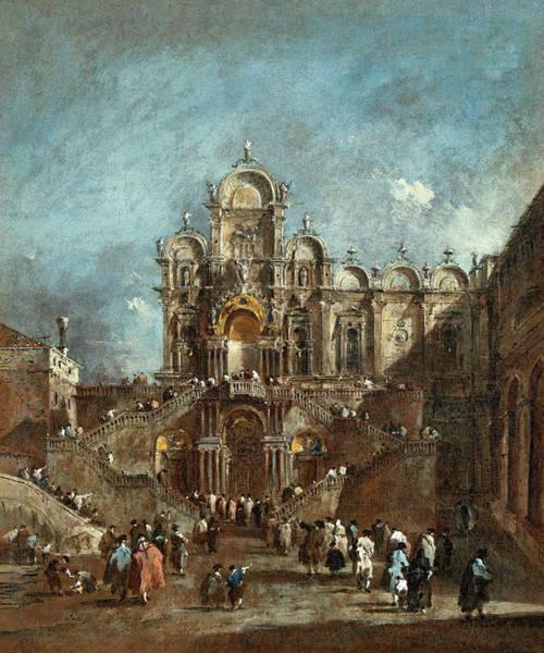 Painting - Temporary Tribune In The Campo San Zanipolo, Venice by Francesco Guardi