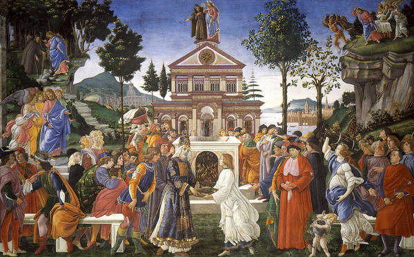 Redeemer Wall Art - Painting - Temptations Of Christ by Sandro Botticelli