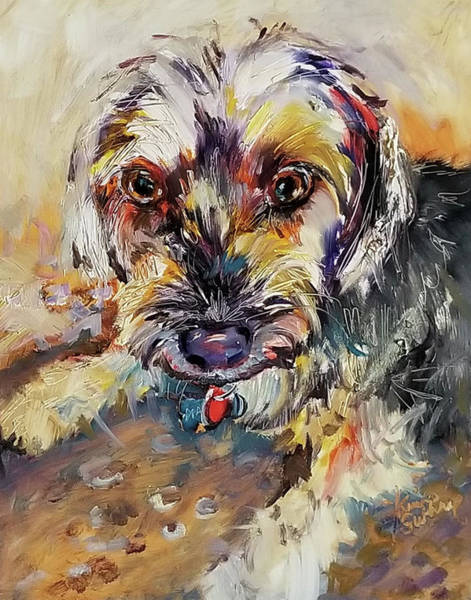 Wall Art - Painting - Terrier Dog Painting by Kim Guthrie