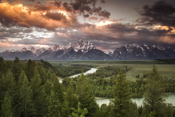 Wall Art - Photograph - Teton Drama by Andrew Soundarajan