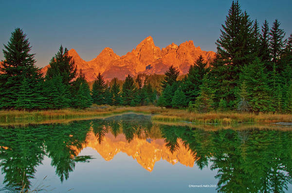 Photograph - Teton Sunrise by Norman Hall