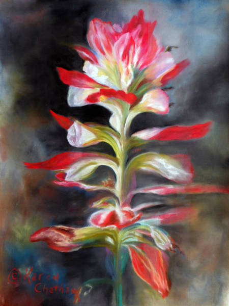 Wall Art - Pastel - Texas Indian Paintbrush by Karen Kennedy Chatham