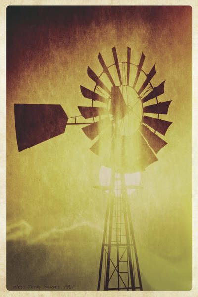 Wall Art - Photograph - Texas Panhandle Windmill by Garry McMichael
