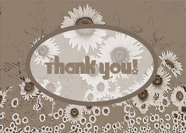 Digital Art - Thank You Card Daisies by Deleas Kilgore