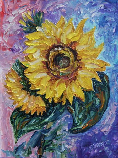 Digital Art - That Sunflower From The Sunflower State  by OLena Art Brand