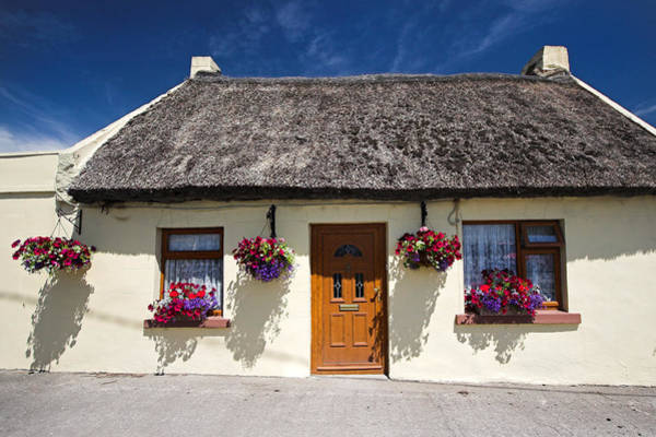 Photograph - Thatch Roof Cottage Ireland by Pierre Leclerc Photography