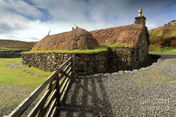 Photograph - Thatched Blackhouse, Isle Of Lewis by Maria Gaellman