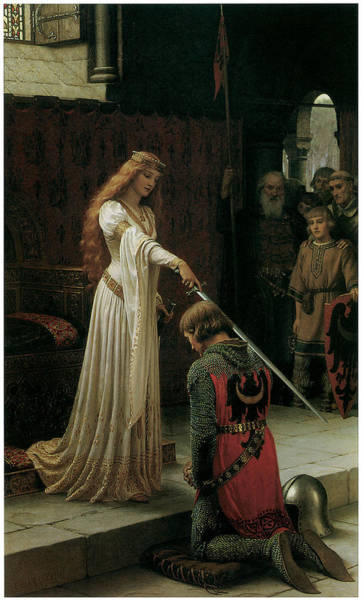 Victorian Era Painting - The Accolade by Edmund Blair Leighton
