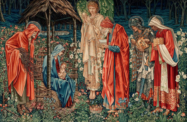 Wall Art - Painting - The Adoration Of The Magi by Edward Burne-Jones