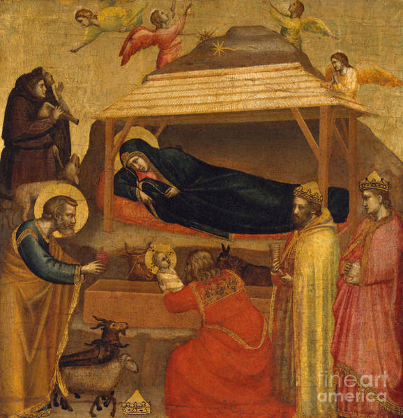 Wall Art - Painting - The Adoration Of The Magi by Giotto di Bondone