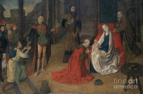 Wall Art - Painting - The Adoration Of The Magi by Justus of Ghent