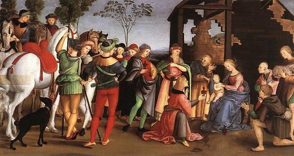Redeemer Wall Art - Painting - The Adoration Of The Magi by Raffaello Sanzio