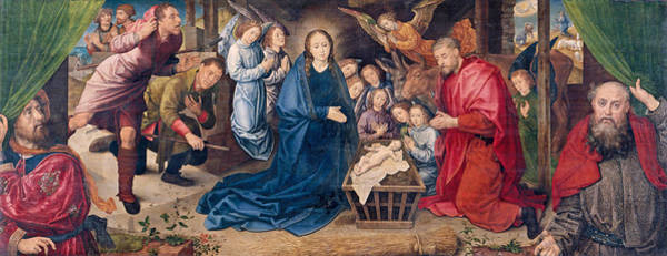 Redeemer Wall Art - Painting - The Adoration Of The Shepherds by Hugo van der Goes