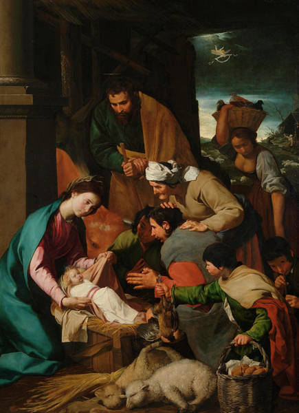 Wall Art - Painting - The Adoration Of The Shepherds by Italian Neapolitan