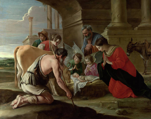 Wall Art - Painting - The Adoration Of The Shepherds by The Le Nain Brothers