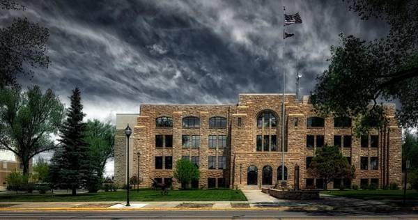 Laramie Photograph - The Albany County Courthouse by Mountain Dreams