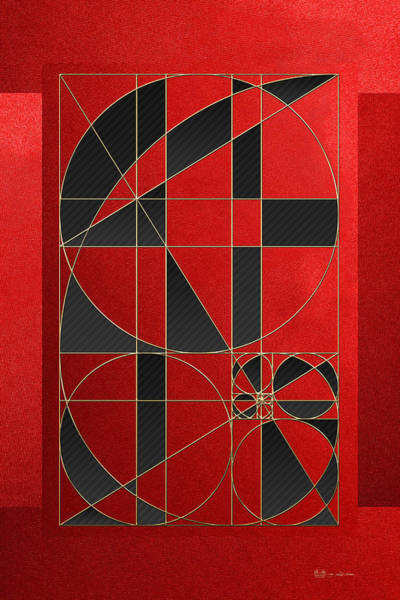 Contemporary Wall Art - Photograph - The Alchemy - Divine Proportions - Black On Red by Serge Averbukh