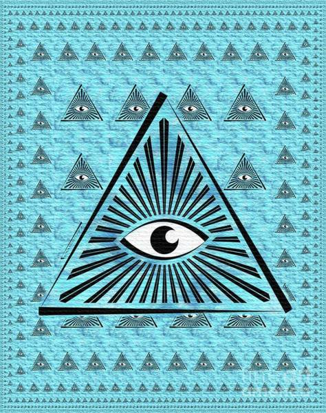 Masonic Wall Art - Painting - The All-seeing Eye by Pierre Blanchard