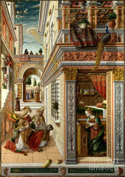 Painting - The Annunciation by Celestial Images