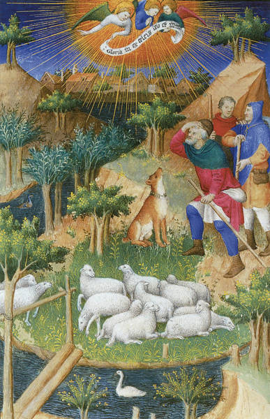 Painting - The Annunciation To The Shepherds by Boucicaut Master