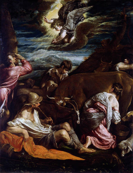 Painting - The Annunciation To The Shepherds by Jacopo Bassano