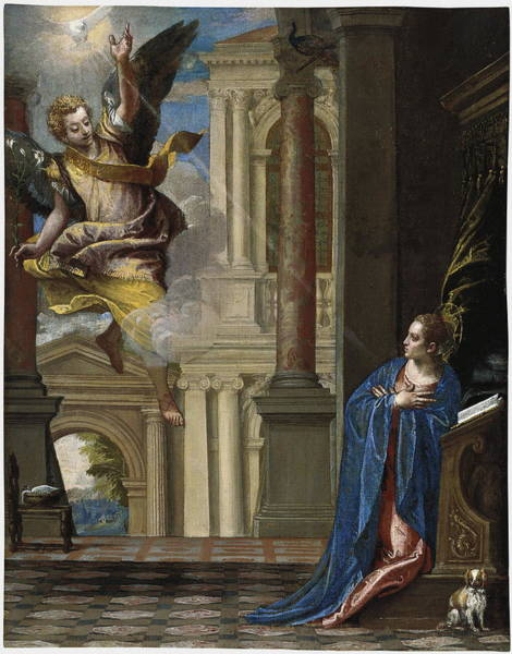 Painting - The Annunciation by Veronese