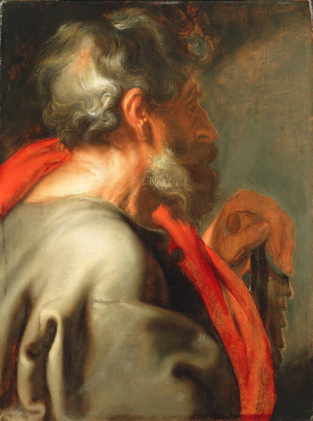 Painting - The Apostle Simon by Anthony van Dyck