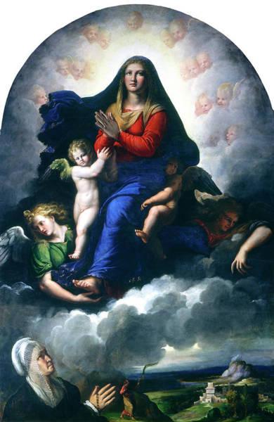 Painting - The Apparition Of The Virgin by Girolamo da Carpi
