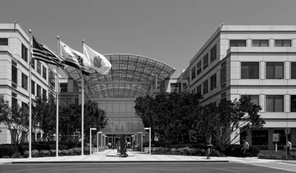 Macintosh Apple Photograph - The Apple Campus - Cupertino California by Mountain Dreams