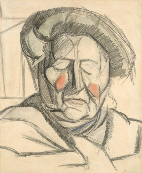 Boccioni Wall Art - Drawing - The Artist's Mother by Umberto Boccioni