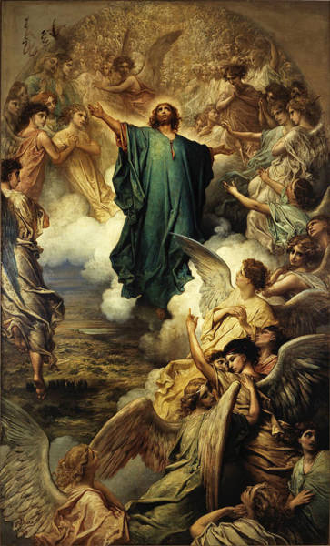 Ascension Painting - The Ascension  by Gustave Dore