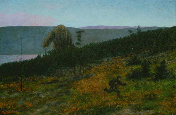 Painting - The Ash Lad And The Troll by Theodor Kittelsen