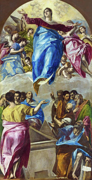 Painting - The Assumption Of The Virgin by El Greco
