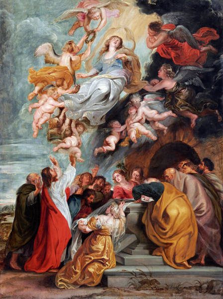 Painting - The Assumption Of The Virgin by Studio of Sir Peter Paul Rubens